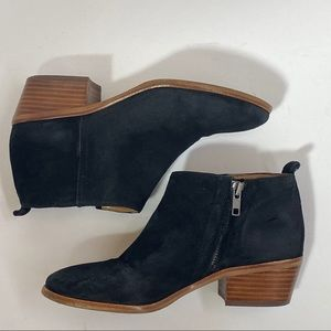 J Crew Sawyer Black Suede Ankle Boots Size 6.5